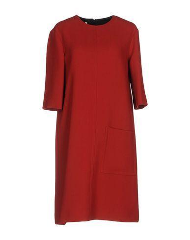 Marni Short Dress In Brick Red