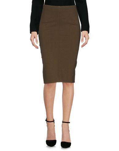 Pinko Knee Length Skirt In Military Green