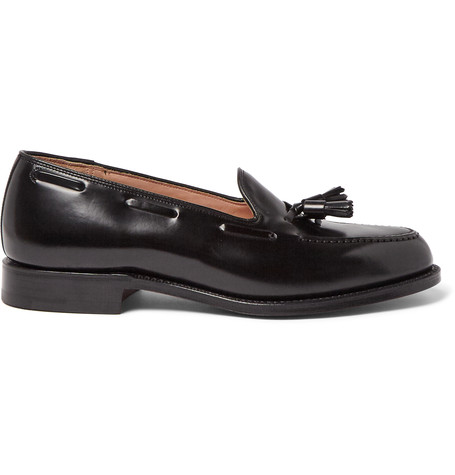 Church's Kingsley 2 Polished-leather Tasselled Loafers In Black