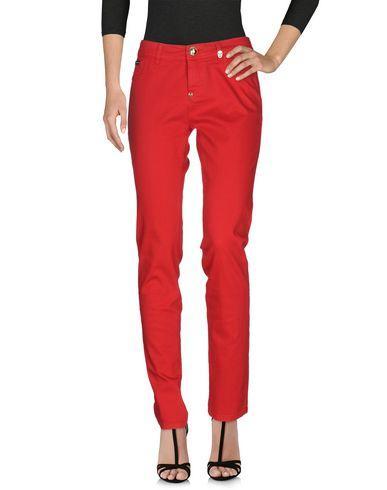 Philipp Plein Denim Pants In Red