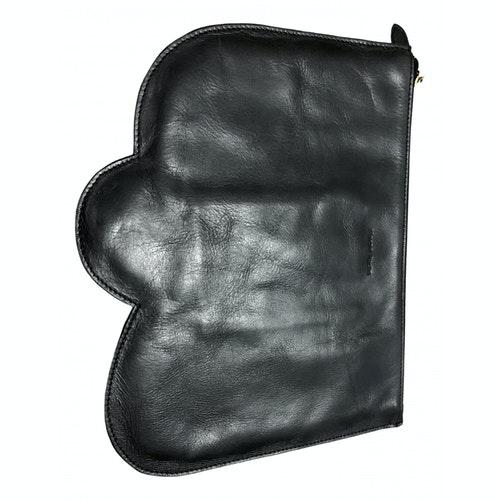 Pre-owned Simone Rocha Black Leather Clutch Bag