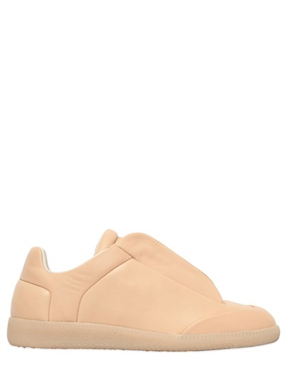 Maison Margiela 30mm Future Leather Sneakers In Beige