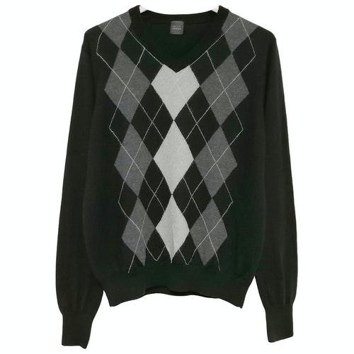 Saks Fifth Avenue Black Wool Knitwear & Sweatshirts