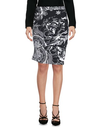 Just Cavalli Knee Length Skirt In White