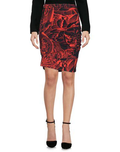 Just Cavalli Knee Length Skirts In Red