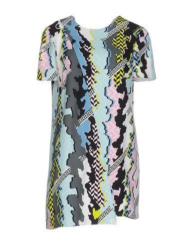 Versace Short Dress In Light Green