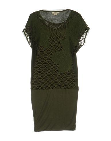 Pinko Short Dress In Military Green