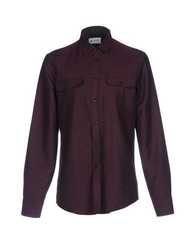 Dondup Solid Color Shirt In Deep Purple