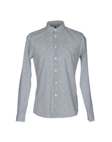 Ps By Paul Smith Patterned Shirt In Slate Blue
