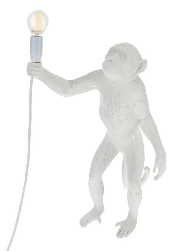 Seletti Monkey Standing Indoor Lamp In White