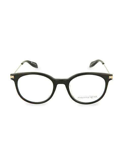 Alexander Mcqueen 50mm Oval Reading Glasses