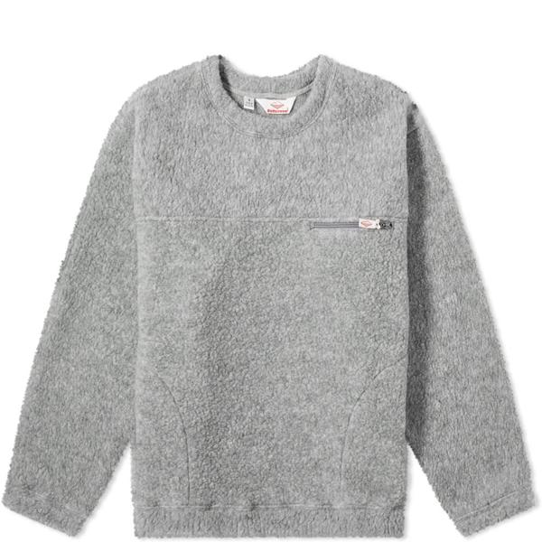Battenwear Lodge Crew Knit In Grey