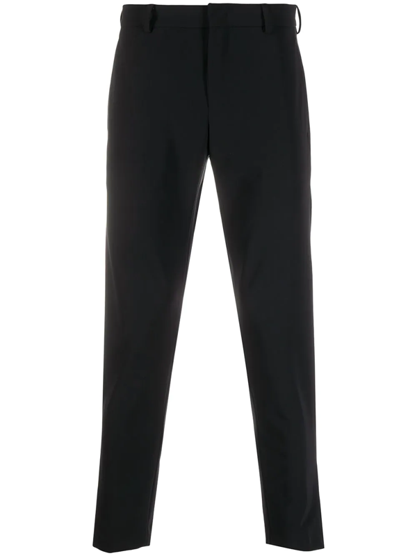 Pt01 Cropped Tailored Trousers In Black