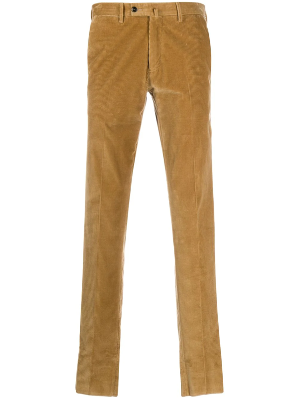 Pt01 Straight-leg Corduroy Trousers In Brown