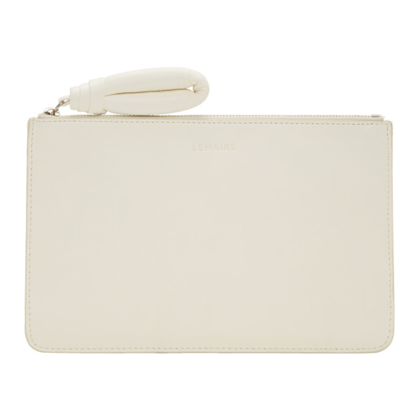 Lemaire White A5 Pouch