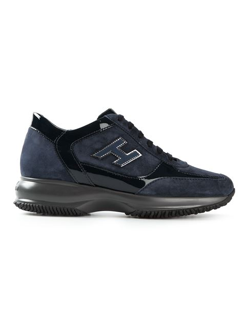 Hogan Interactive In Blue Suede And Patent Leather