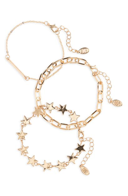 8 Other Reasons On A Journey Set Of 3 Bracelets In Gold