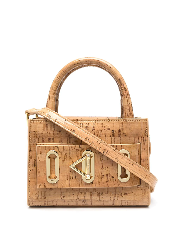Salar Bella Cork Tote Bag In Brown