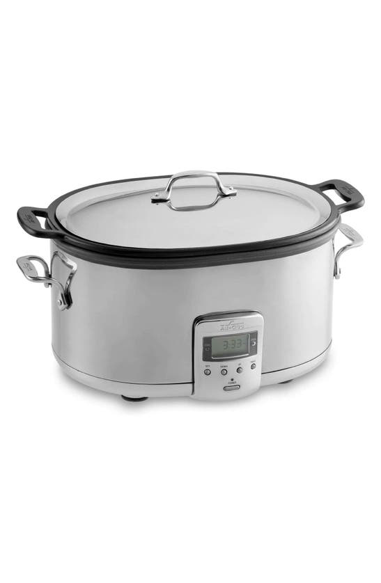 All-clad 7-quart Slow Cooker With Aluminum Insert In Silver
