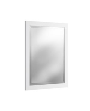 "Alaterre Furniture 24"" Beveled Bath Vanity Mirror, White"