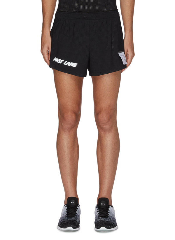 Satisfy 'fast Lane' Trail Long Distance 2.5 Inches Running Shorts In Black