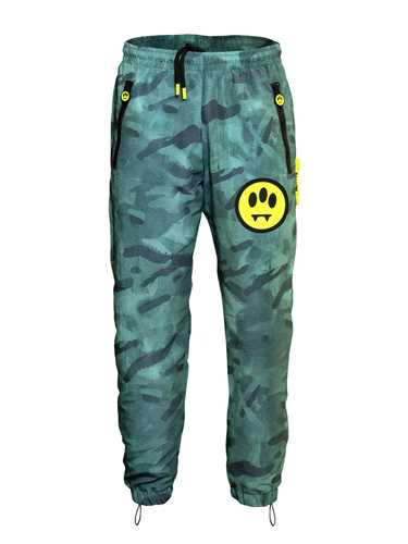 Barrow Green Camouflage Pants In Blue