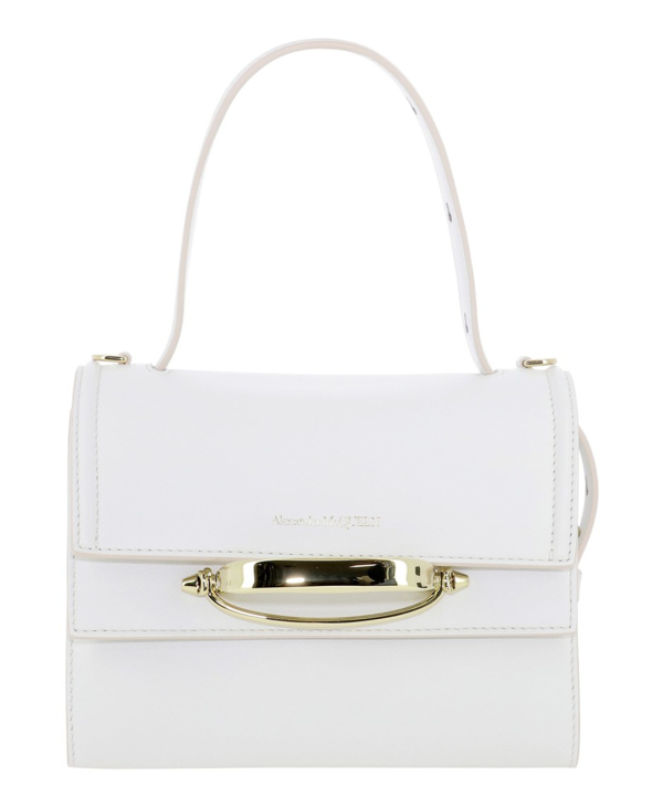 Alexander Mcqueen The Story White Leather Shoulder Bag In Deep Ivory
