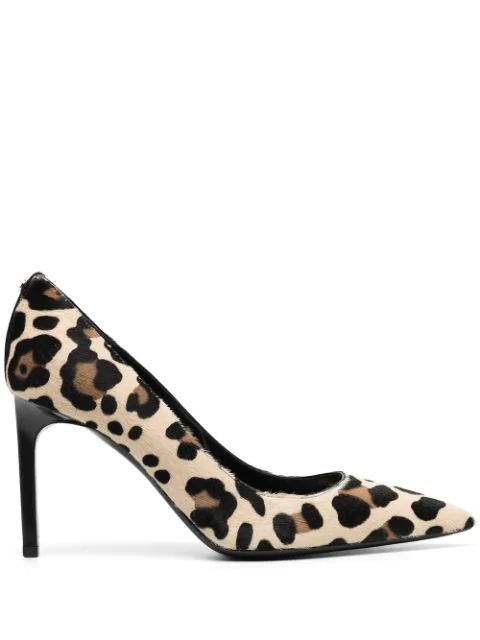 Tom Ford Leopard Pony Skin Pumps In Neutrals