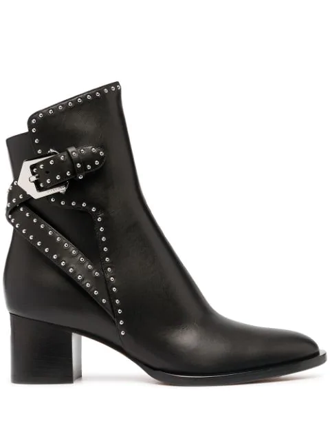 Givenchy Elegant Mid-heel Ankle Boots In Black