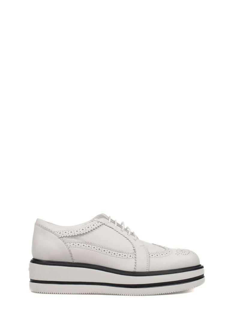 Hogan White Route H323 Leather Wedge Derby | ModeSens