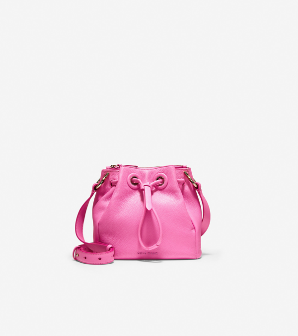 Cole Haan Grand Ambition Mini Drawstring Bag In Pink