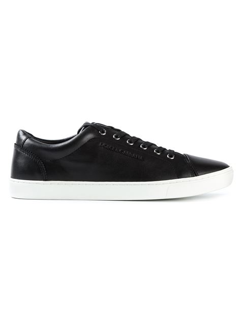 Dolce & Gabbana Classic London Low-top Leather Trainers In Black
