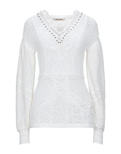 Roberto Cavalli Crochet-knit Top In White