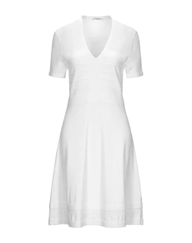 Kangra Cashmere Short Dress In White