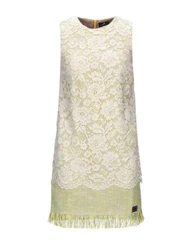 Elisabetta Franchi Short Dress In Ivory