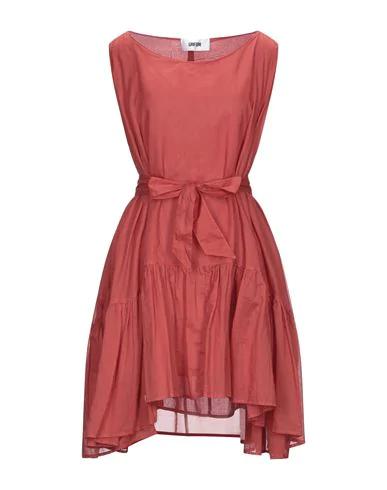 Mauro Grifoni Short Dress In Rust