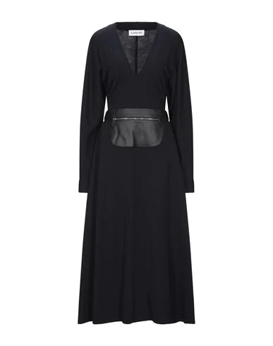 Lanvin Long Dress In Dark Blue