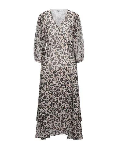 Liu •jo Midi Dress In Beige
