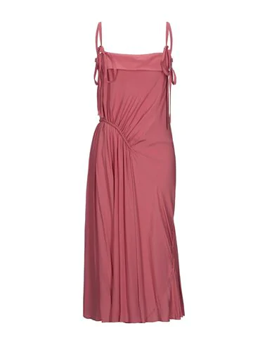 Cedric Charlier Long Dress In Coral
