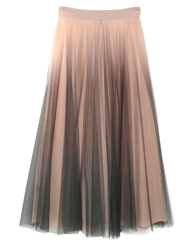 D.exterior Maxi Skirts In Pale Pink