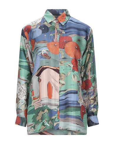 Paul & Joe Floral Shirts & Blouses In Slate Blue