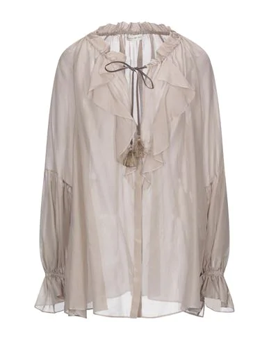 Etro Shirts & Blouses With Bow In Dove Grey