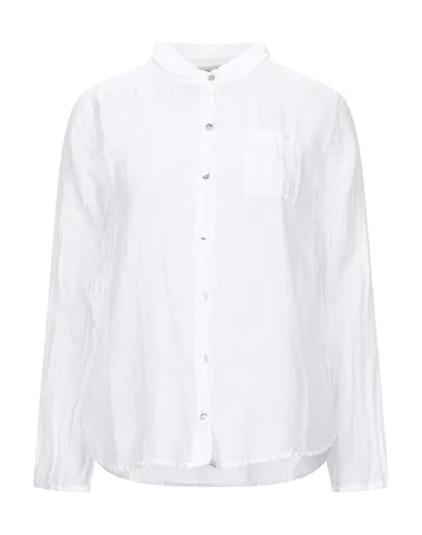 Crossley Solid Color Shirts & Blouses In White