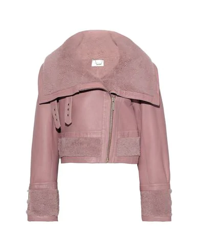 Zimmermann Biker Jacket In Pastel Pink