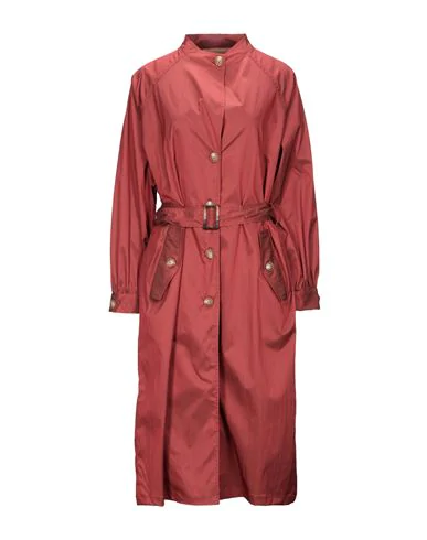 On Parle De Vous Full-length Jacket In Brick Red