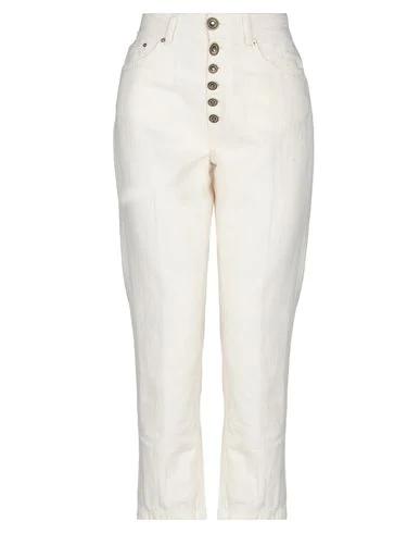 Dondup Denim Pants In Ivory