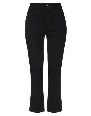 Manila Grace Denim Pants In Black