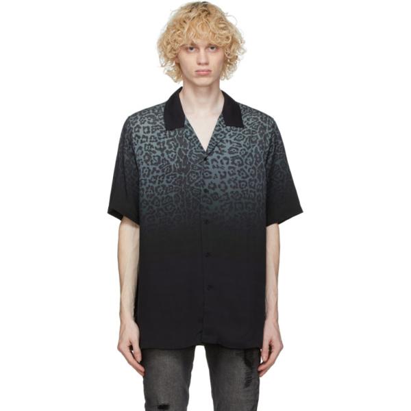 Ksubi Dusk Dégradé Leopard-print Twill Shirt In Black