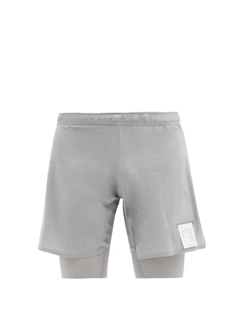 Satisfy Justice Trail Performance Mesh Shorts In Grey