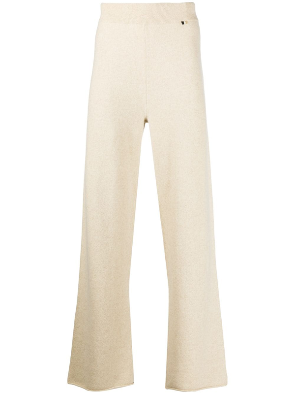 Extreme Cashmere Oversize Cashmere-blend Trousers In Neutrals